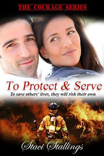 book cover, man and woman, fireman and flames, to save others' lives, they will risk their own