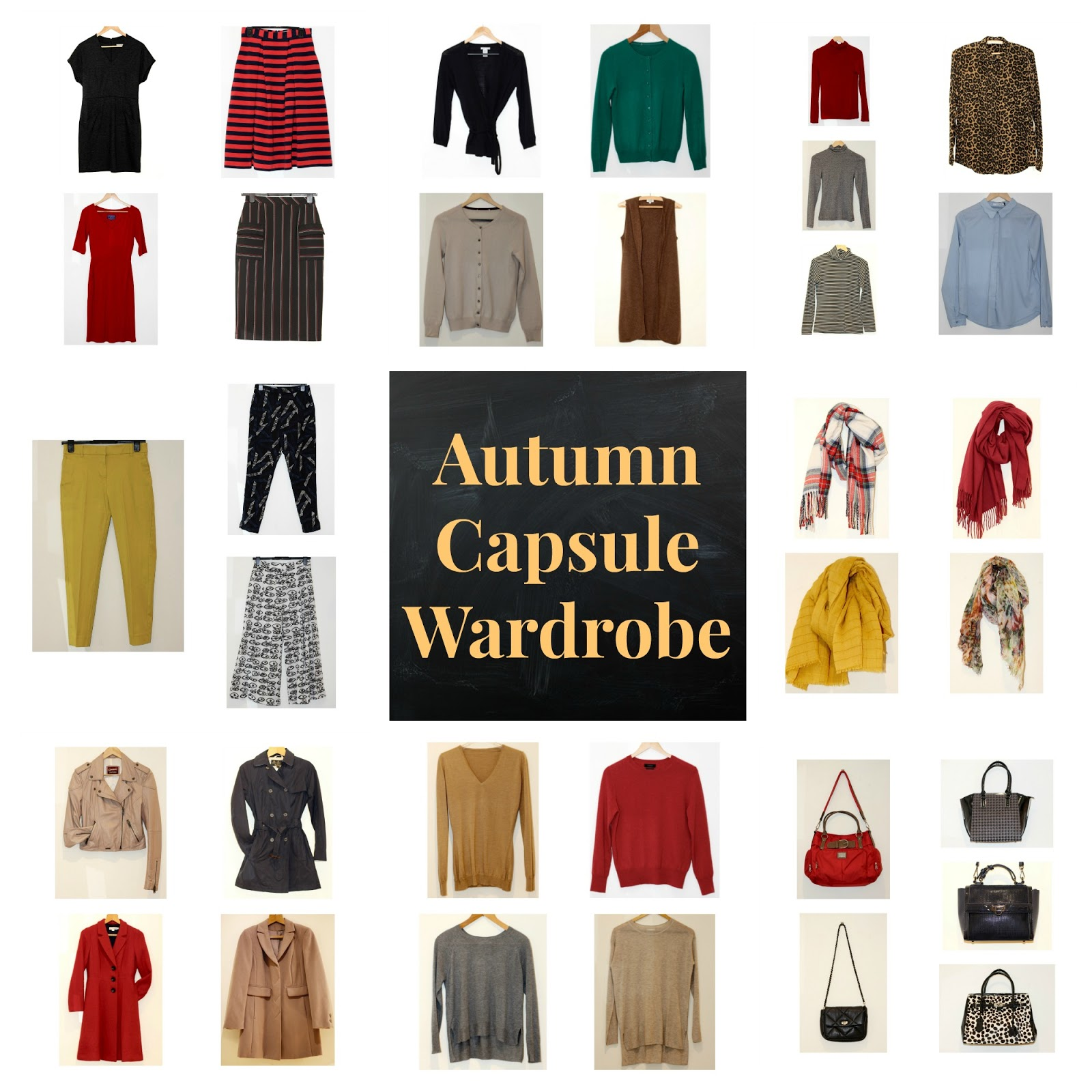 37 piece Autumn Colourful Capsule Work Wardrobe | Fake Fabulous