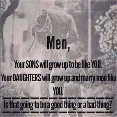 Quote addressed to men about sons and daughters, crime against women