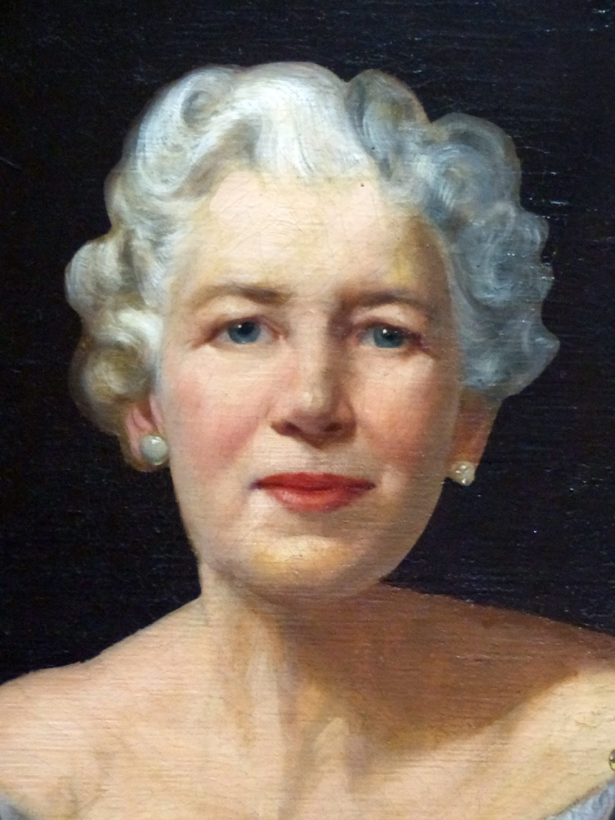 This 1956 Portrait Of Adele Hagner Stamp 1893 1974 By Ann Didusch Schuler Hangs In The H Student Union On Campus University