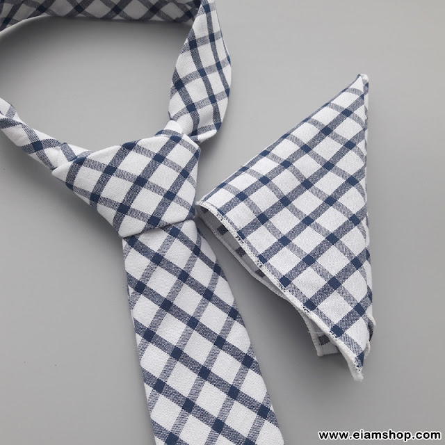 ชุดเนคไท + ผ้าเช็ดหน้า (ผ้า Cotton) - Eiamshop