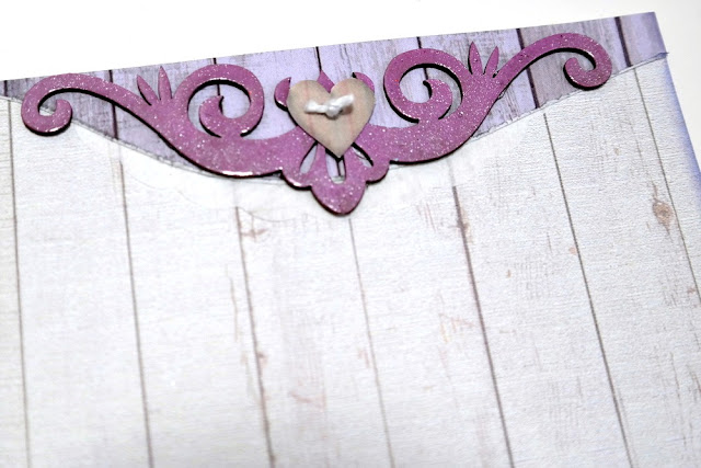 Lavender Breeze Layered Mixed Media Corner Embellishment by Dana Tatar for FabScraps