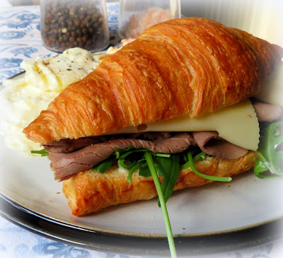 Roast Beef, Horseradish & Rocket Sandwiches