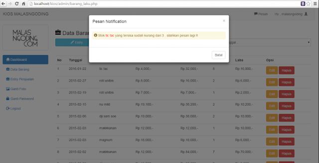 Aplikasi Penjualan Dengan PHP Dan Mysql Free Untuk Pembelajaran
