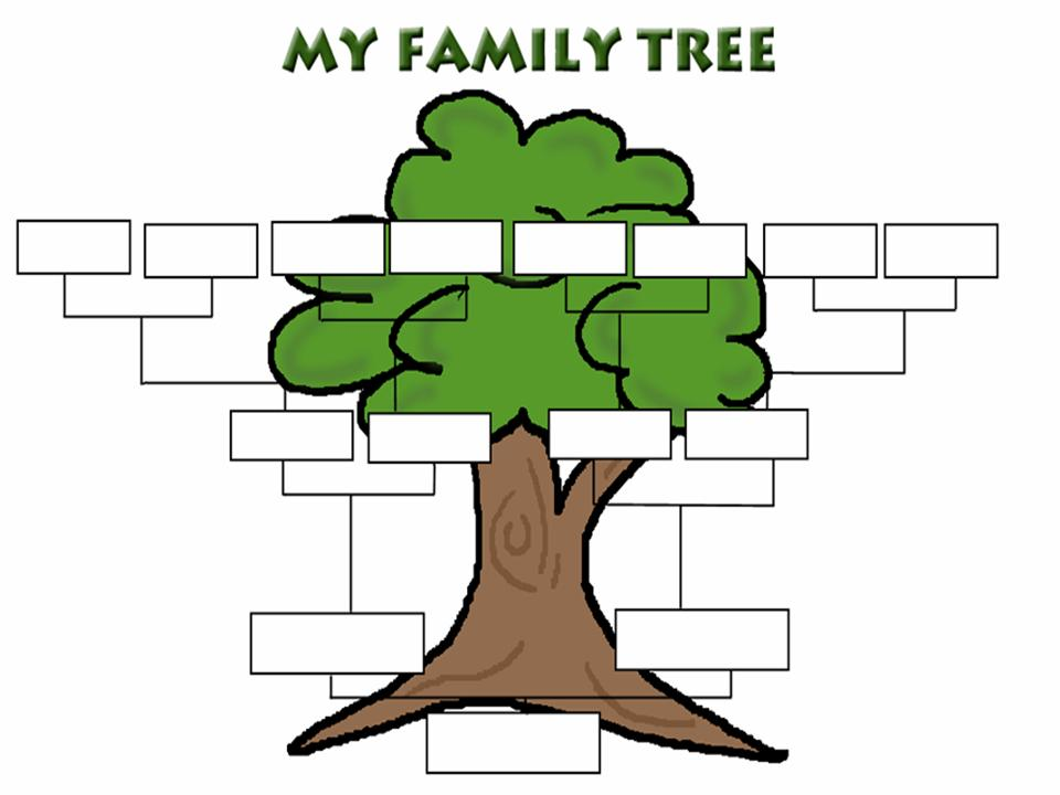 The ossington kitchen growing your family tree getting for Draw a family tree template