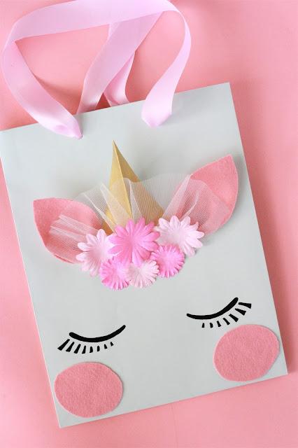 DIY Einhorn Geschenktüte basteln