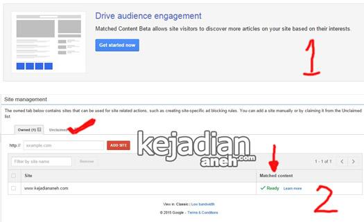 Cara Pasang Matched Content Iklan Adsense Cara Pasang Matched Content Iklan Adsense