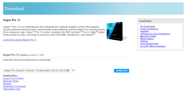 تحميل برنامج سوني فيغاس اخر اصدار