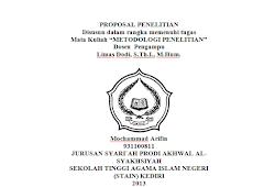 Contoh Proposal Skripsi Hukum Islam