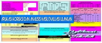 Aplikasi Koreksi dan Analisis Hasil Evaluasi Ulangan Format Excel