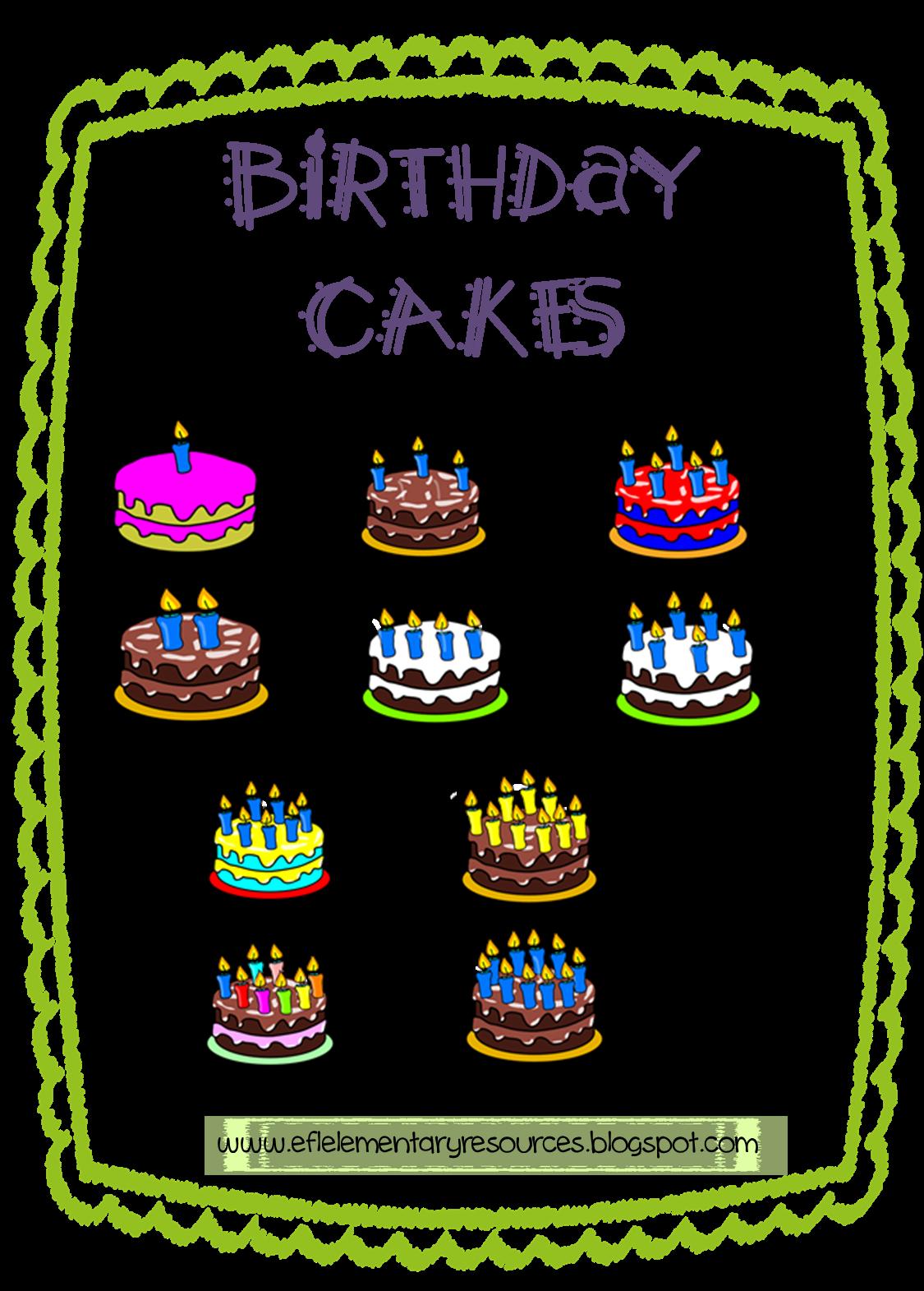Efl Elementary Teachers Birthday Numbers And Plurals