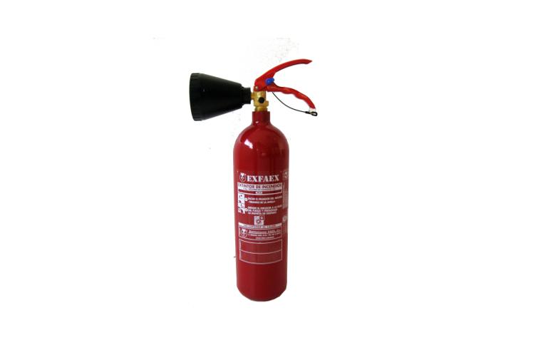 Extintores, Extintor CO2, Fuegos electricos