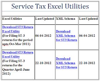 Service Tax Modified Return (ST3) for Apr-Jun,2012