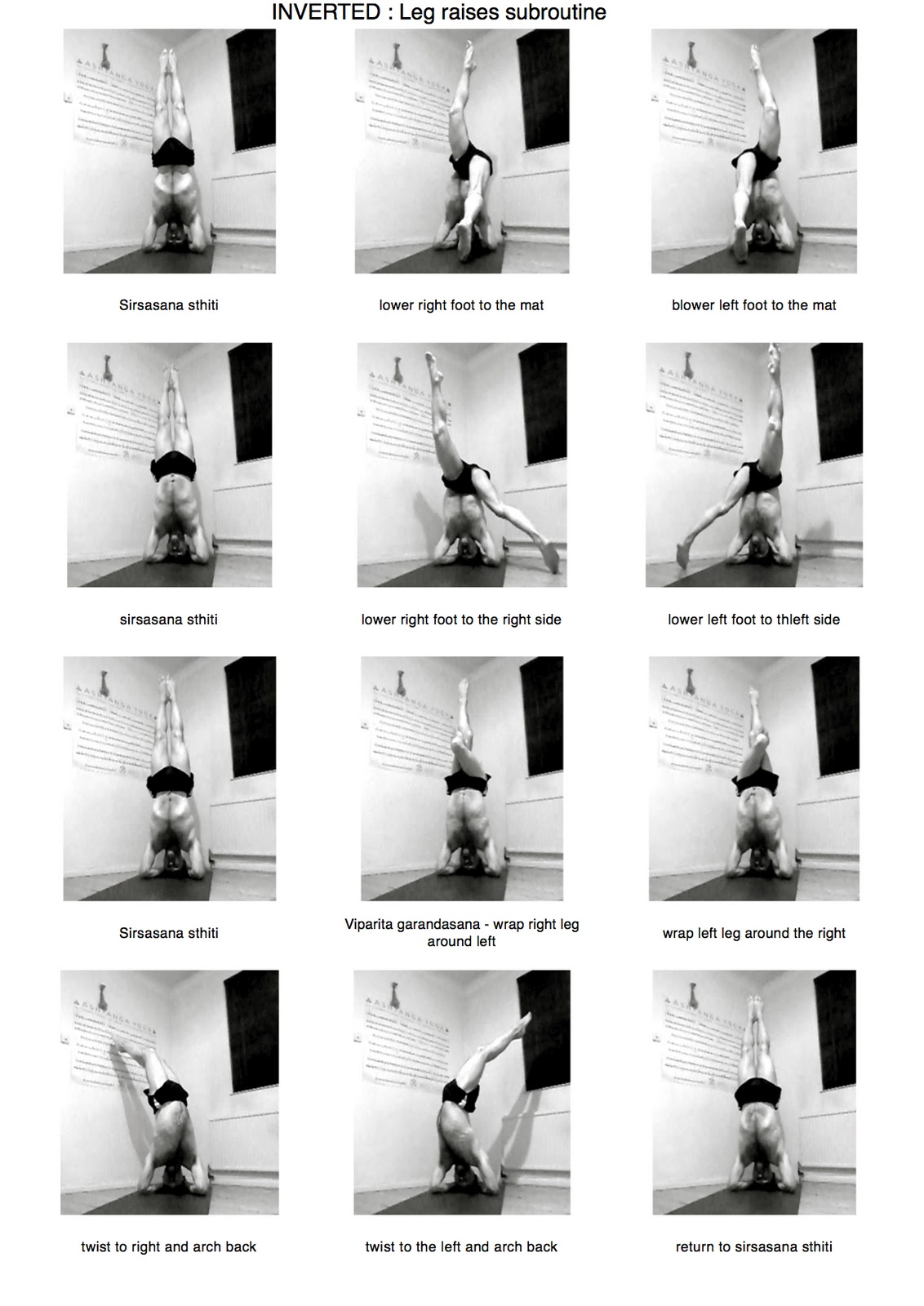 Day 78 INVERTED Leg Raises Subroutine From Vinyasa Krama Inverted Sequence