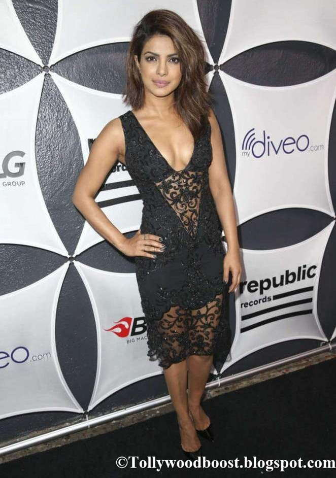 Priyanka Chopra At Grammy Celebration In Hot Black Dress