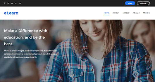 eLearn Education Blogger Template | Templateism