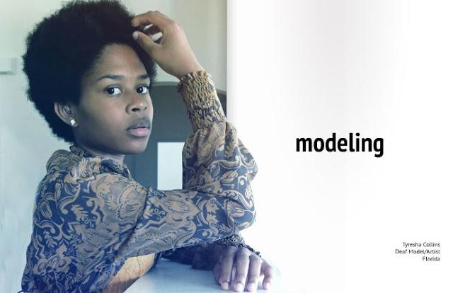 La modelo sorda Tyresha Collins (imagen de isuu)