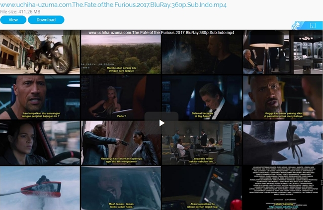 Screenshots Download Free Full Movie The Fate of The Furious (2017) BluRay 360p Subtitle Indonesia 3gp
