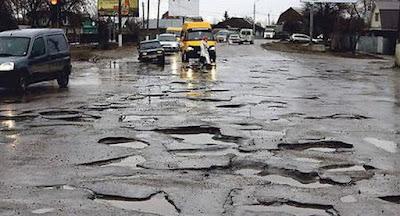 Украинские дороги – одни из наихудших в мире