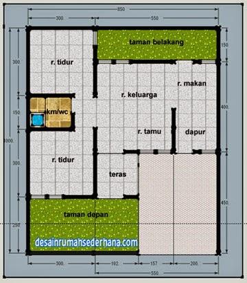 contoh denah rumah untuk luas tanah 120 m2 | desain rumah