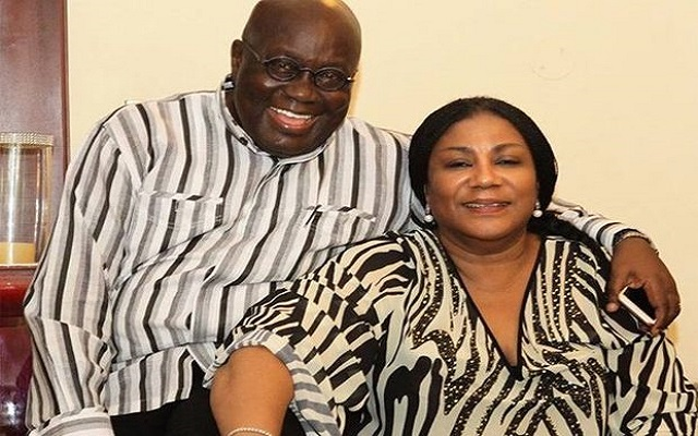 President Nana Addo Dankwa Akufo-Addo and his wife Rebecca Akufo-Addo