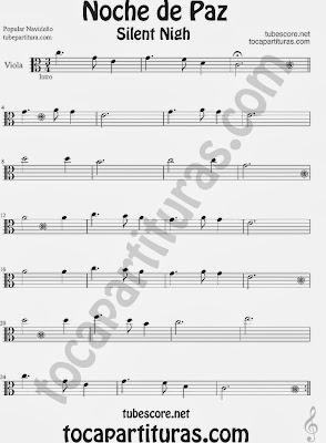 Partitura de NOCHE DE PAZ para Viola Villancico Christmas Song SILENT NIGH Sheet Music for Viola Music Scores
