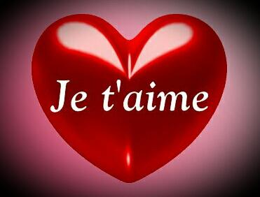 Les Petites Images Damour Du Net Je Taime Dans Un Coeur Rouge