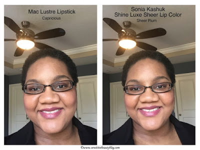 Buy This, Not That: Sheer lipstick Mac Capricious vs Sonia Kashuk Sheer plum