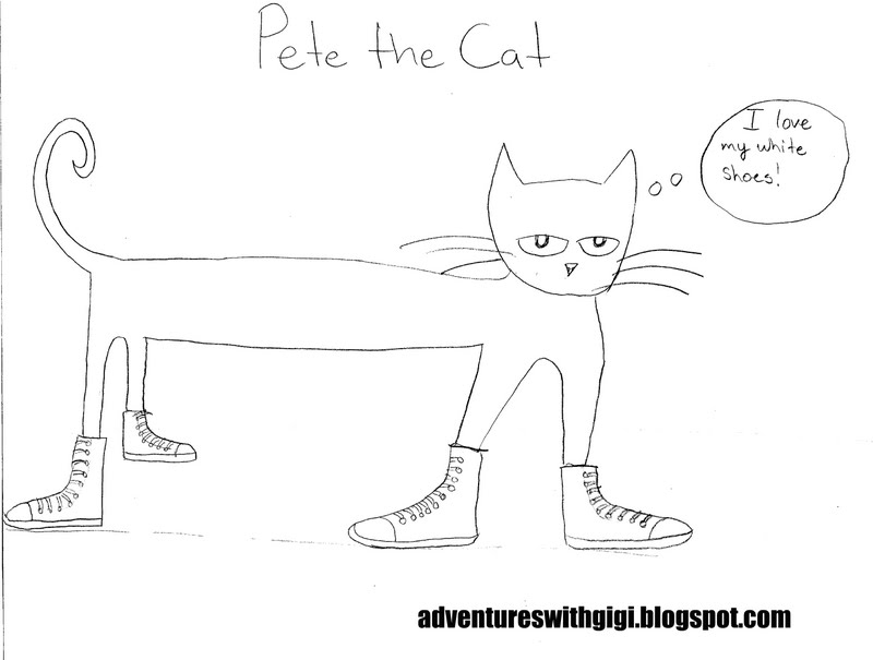 Pete The Cat White Shoes Printable Book