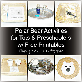 Polar bear learning activities for tots and preschoolers with free printables