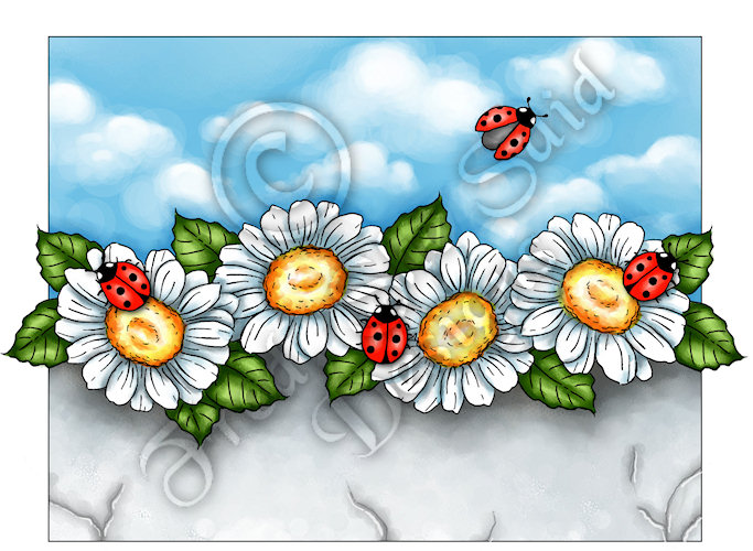 Fred, She Said Designs .... The Store: Daisies & LadyBugs
