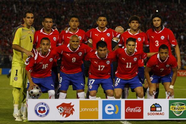 Formación de Chile ante Uruguay, amistoso disputado el 17 de noviembre de 2010