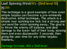 naruto castle defense 6.4 Rock Lee Leaf Spinning Wind detail