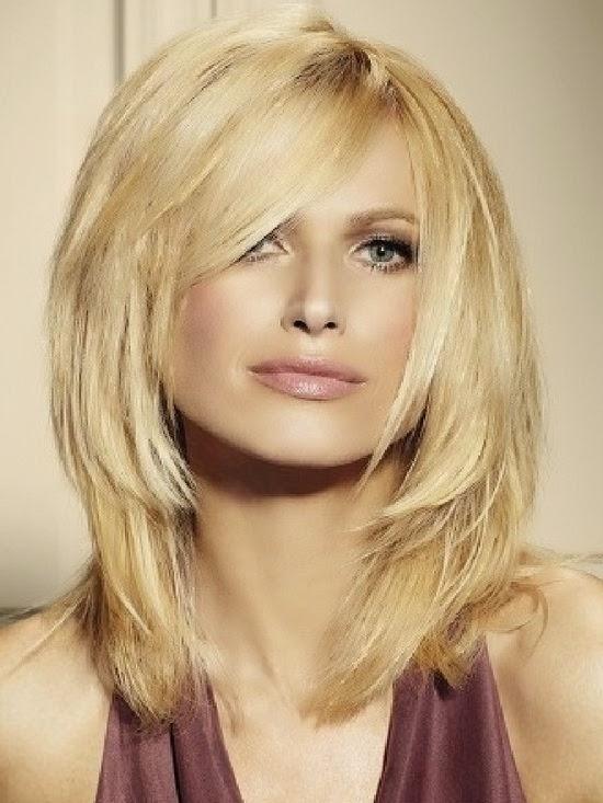 Frisur Blond Mittellang Gestuft Friseur