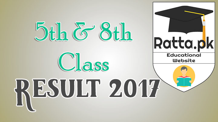 PEC 5th Class and 8th Class Result 2017 - Check Result Online
