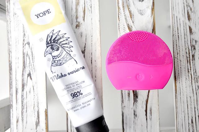 odżywka do włosów normalnych yope mleko owsiane, soniczna szczoteczka do twarzy