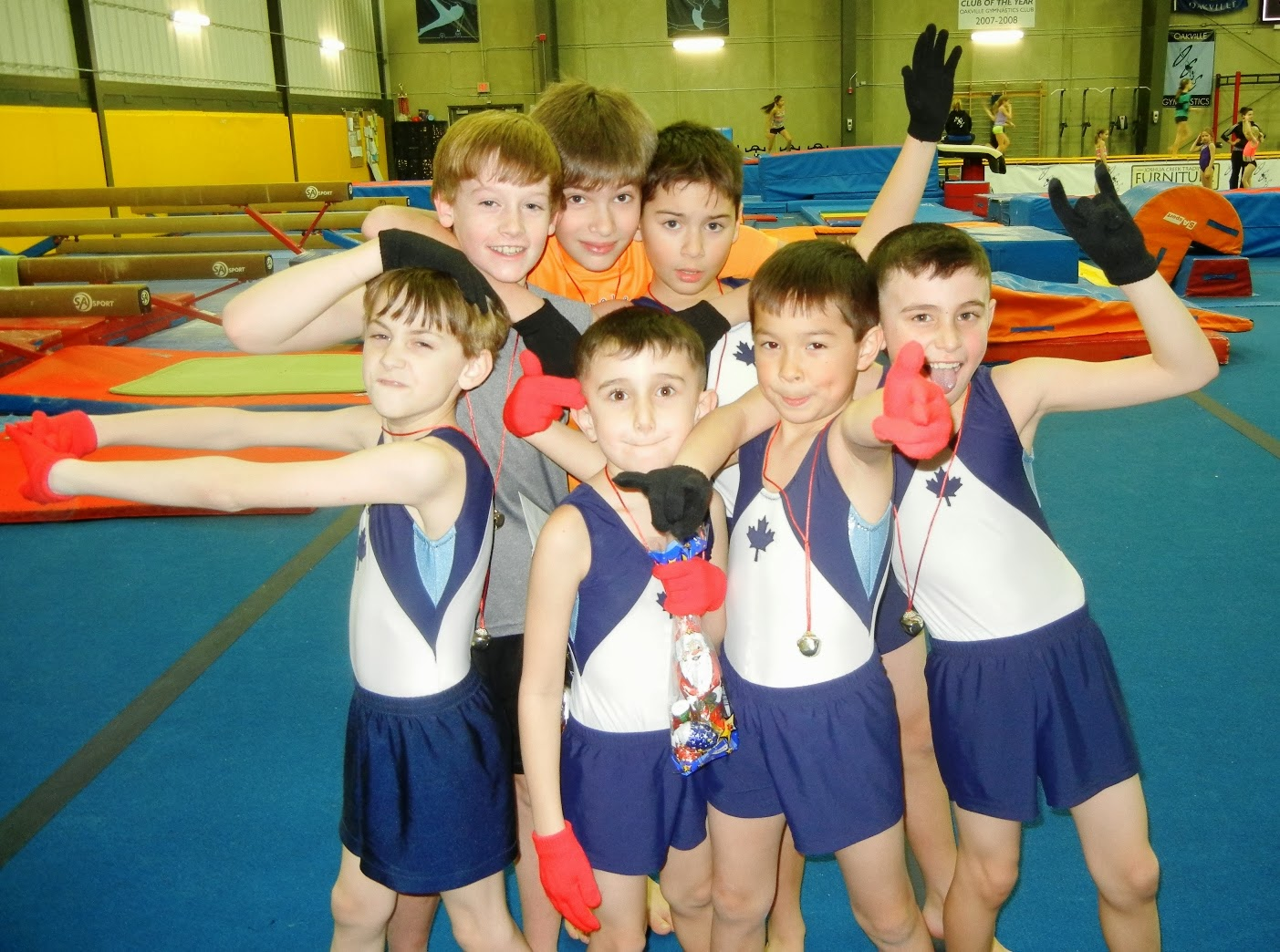 Oakville Gymnastics Club Acrobatic Gymnastics Team Boys