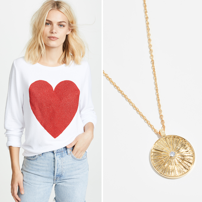 wildfox heart sweatshirt pendant necklace