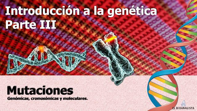 introducción a la genética mutaciones fisiopatología bioanalisis uc
