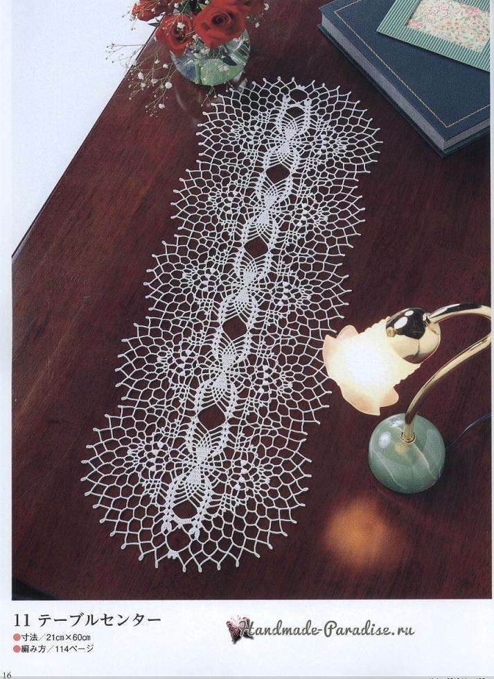 Самые красивые салфетки крючком с узором ананас