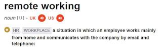 remote working definition