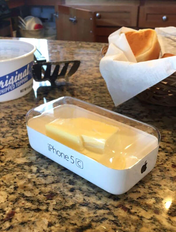 20 Hilarious Photos Of Grandparents Being Awesome - Grandma's Butter Dish