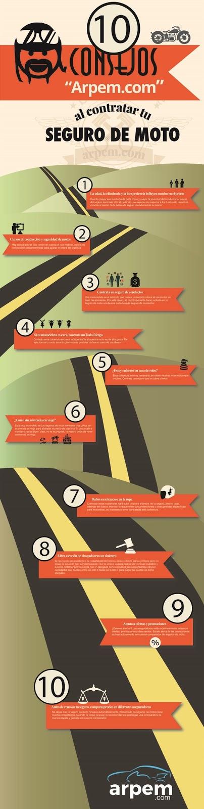 Infografía: 10 consejos al contratar tu seguro de moto