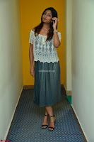 Eesha in a cute deep neck top and Skirt at at Big FM 124.JPG