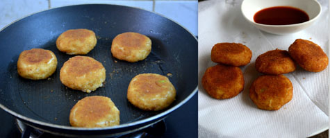 Paneer bread cutlet