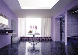 Diseño de baño violeta