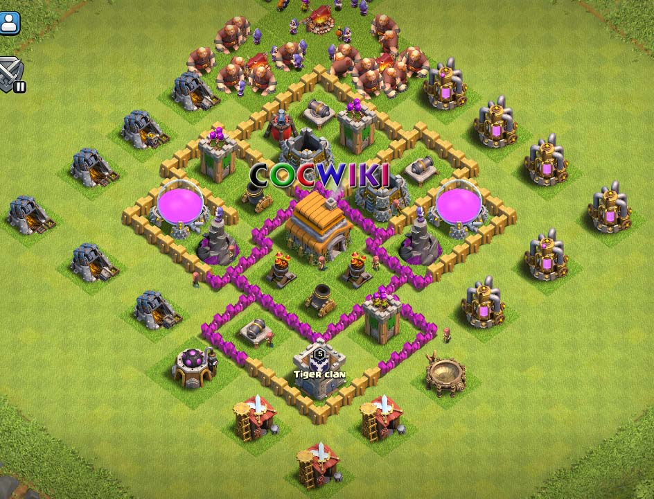 clash of clans town hall 6 farming base