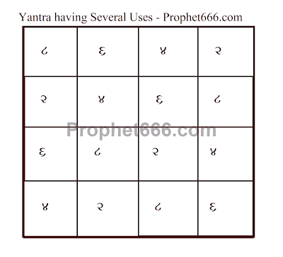 Hindu Magical Yantra having Several Different Uses