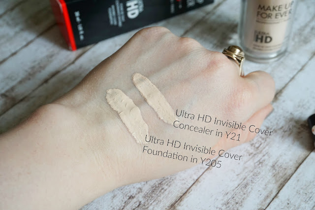 Make up for ever Ultra HD Invisible Cover Foundation in Y205 albaster