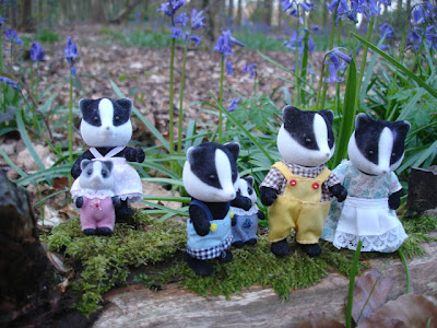 Sylvanian Families Underwood Badger Family Forest